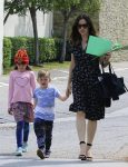 Jennifer Garner leaves church with son Sam and daughter Seraphina