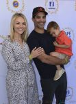 Jonathon Schaech, Julie Solomon, Camden Quinn Schaech at Safe kids Day 2017