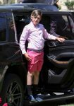 Kingston Rossdale arriving at easter Service in LA