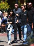 Kourtney Kardashian and Scott Disick at Disneyland with son Reign