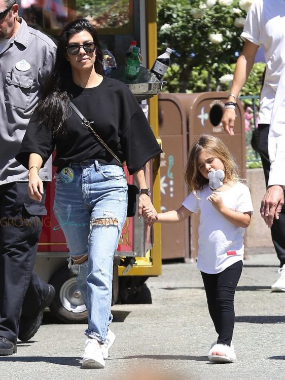 Kourtney Kardashian celebrates her birthday at Disneyland with daughter Penelope