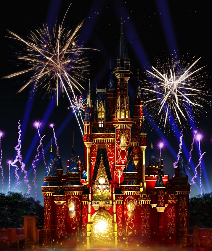 Magic Kingdom Happily Ever After castle show
