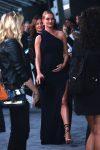 Pregnant Rosie Huntington-Whiteley poses at the premiere of 'The Fate Of The Furious'