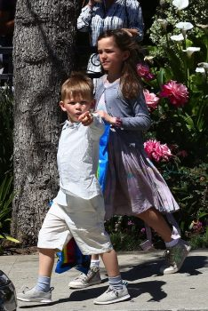 Sam and Seraphina Affleck leave church after Sunday Service