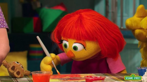 Sesame Street Character with Autism Julia