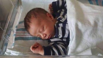 Baby Ezra born in Grocery Store