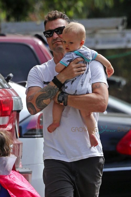 Brian Austin Green with son Journeynleaving Nobu