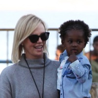 Charlize Theron Has a Family Fun Day At The Pier