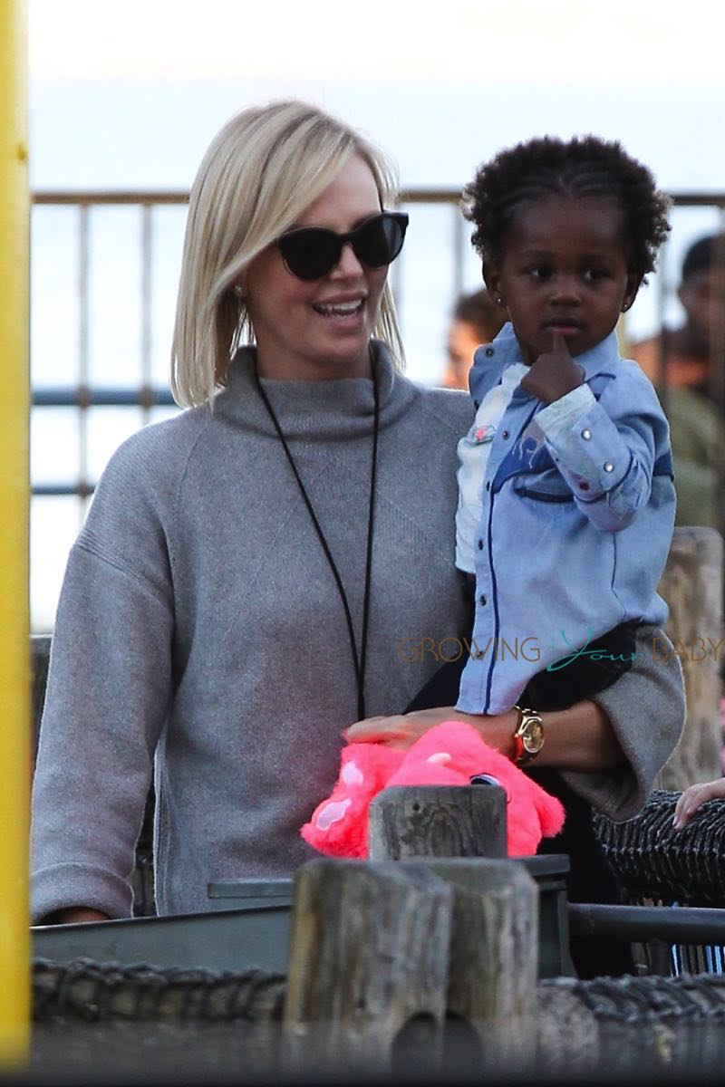 Charlize Theron has a family fun day with daughter August Theron