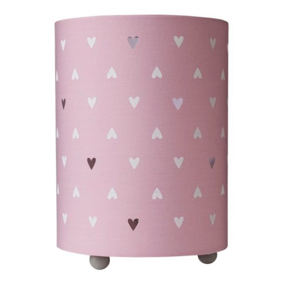 Cloud Island Uplight Table Lamp Hearts