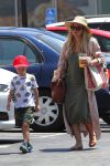 Hillary Duff and son Luca Hit The Market!