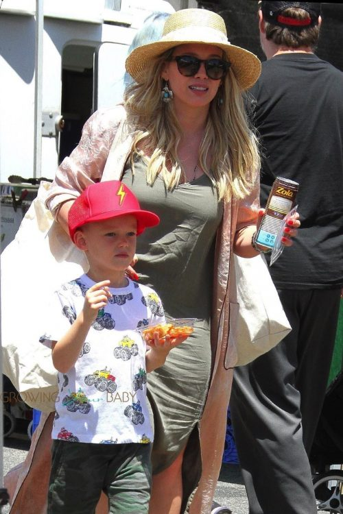 Hillary Duff and son Luca at the Farmers Market