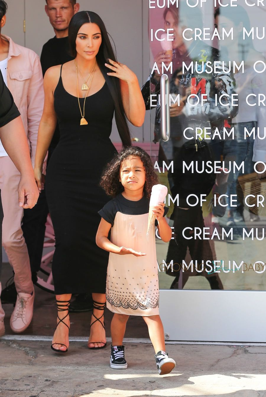 Kim Kardashian takes North West to the Ice Cream Museum