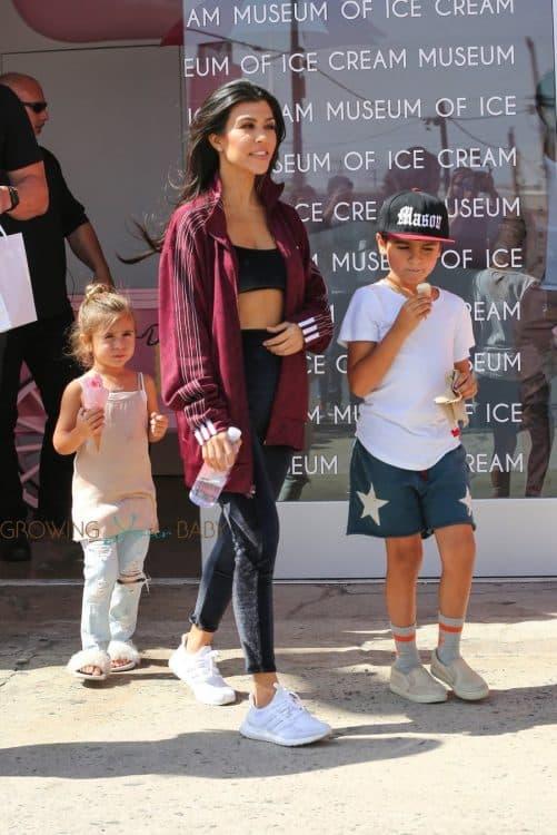 Kourtney Kardashian takes Mason and Penelope to the Ice Cream Museum