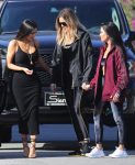 Kourtney, Kim and Khloe Kardashian visit a planned parenthood office in downtown L.A.