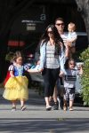 Megan Fox and husband Brian Austin Green and their boys Noah, Journey & Bodhi leave Nobu Restaurant