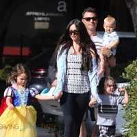 Megan Fox and Brian Austin Green Lunch With Their Boys