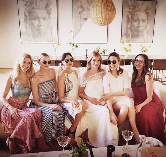 Pregnant Rosie Huntington-Whiteley Celebrates Her Baby Shower in LA