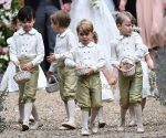 Prince George at the wedding of his aunt Pippa Middleton and James Matthews at St Mark's Church Englefield in Berkshire