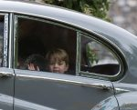 Prince George leaving the wedding of his aunt Pippa Middleton and James Matthews at St Mark's Church Englefield in Berkshire