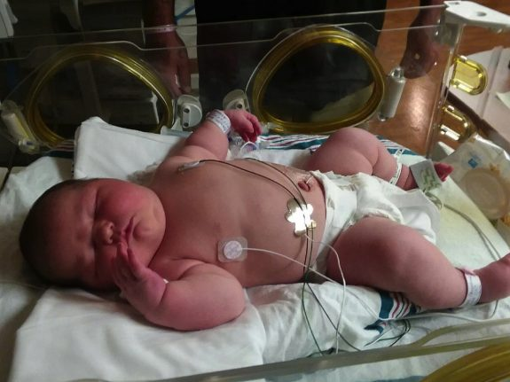 13.5lb baby Carleigh Corbitt