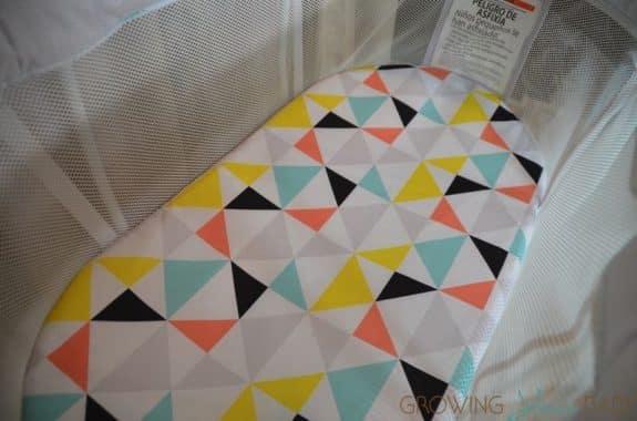 Fisher Price Soothing Motions Bassinet - jonathon adler print mattress