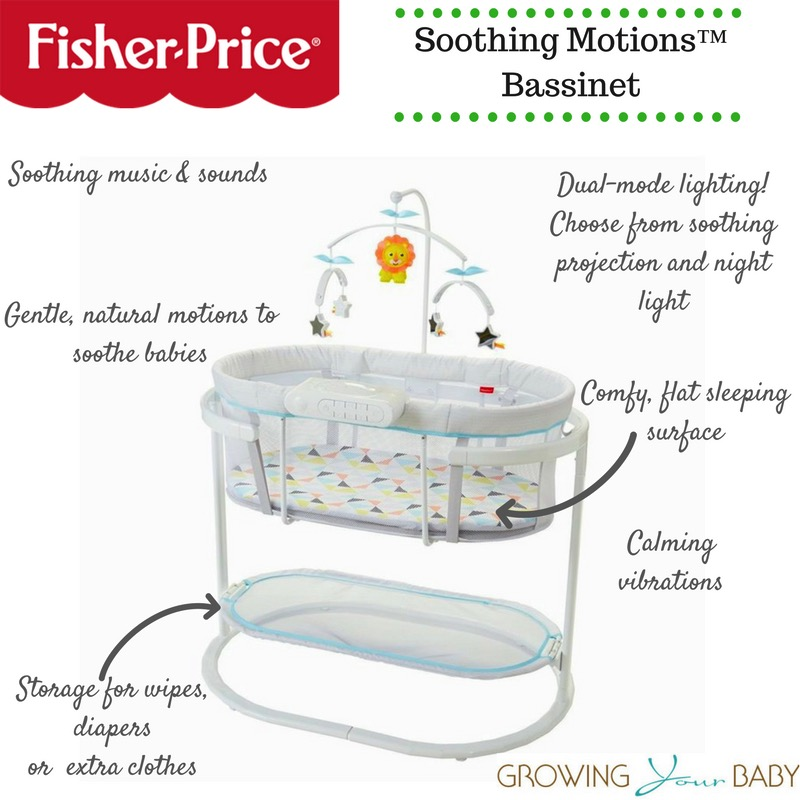 New Fisher Price Soothing Motions Bassinet Video Review