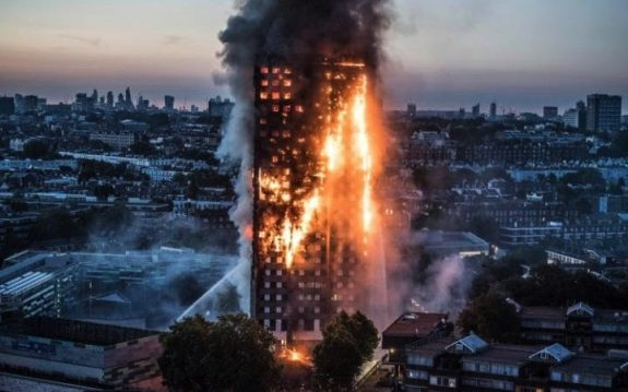 Grenfell Tower in Notting Hill engulfed in flames