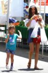 Jenna Dewan Tatum and her daughter Everly Tatum enjoy a day at the farmer's market in LA