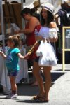 Jenna Dewan and her daughter Everly Tatum enjoy a day at the farmer's market in LA
