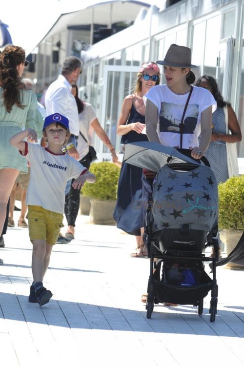 Marion Cotillard with son Marcel Canet at Jumping at the Saint Tropez Athina Onassis Horse Show