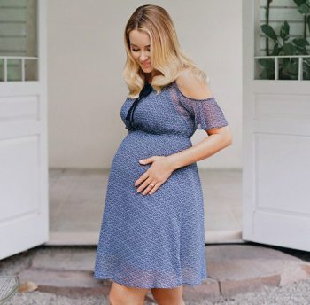 Maternity LC Lauren Conrad Cold-Shoulder Empire Dress