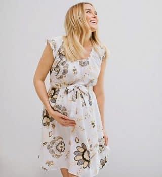 Maternity LC Lauren Conrad Pleated Fit & Flare Dress