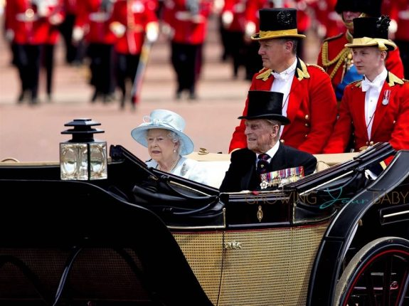 Queen Elizabeth II, Prince Philip, Duke of Edinburgh, trooping the colour 2017