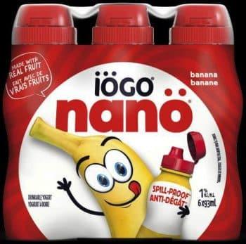 recalled iogo nano Banana Drinkable Yogurt