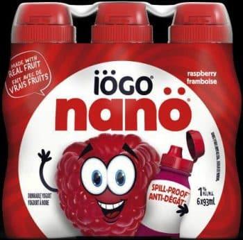 recalled iogo nano Raspberry Drinkable Yogurt