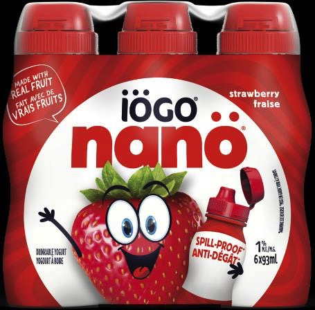 recalled iogo nano Strawberry Drinkable Yogurt