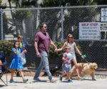 Ben Affleck and Jennifer Garner take their kids Violet, seraphina & Sam to 4th of July Parade