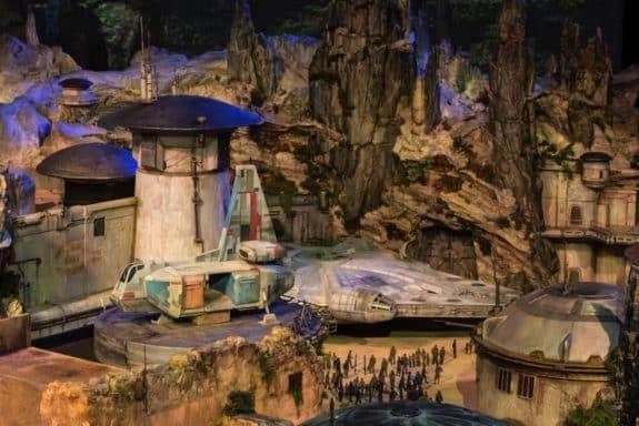 Detailed Model of Star Wars-Themed Lands