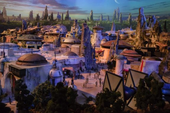 Detailed Model of Star Wars-Themed Lands from D23