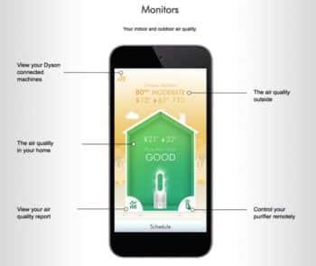 Dyson Pure Hot+Cool Link Air Purifier - App