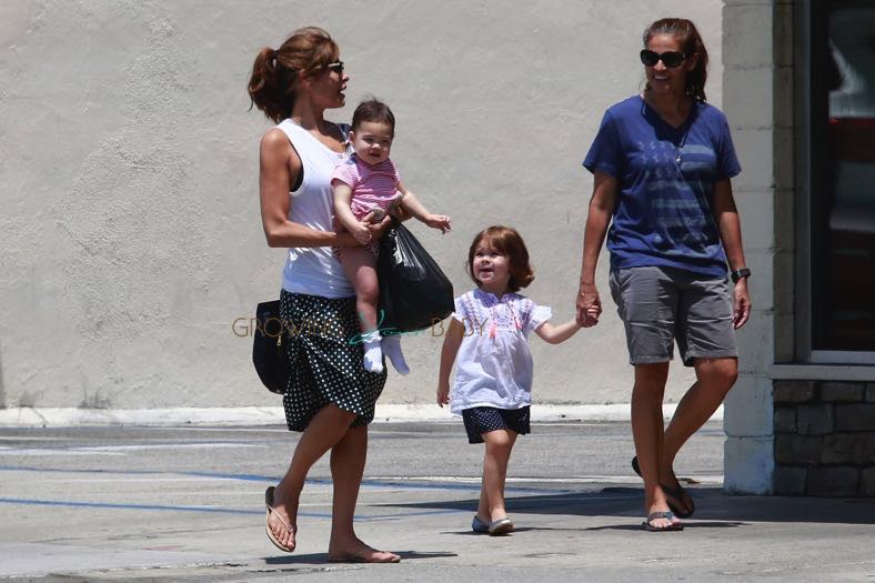 Eva Mendes And Her Sister Janet Take The Little Ones
