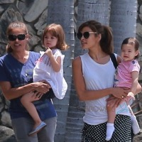 Eva Mendes Steps Out With Her Girls!