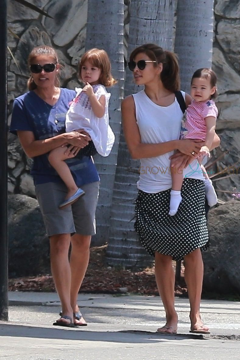 Eva Mendes Steps Out With Her Girls