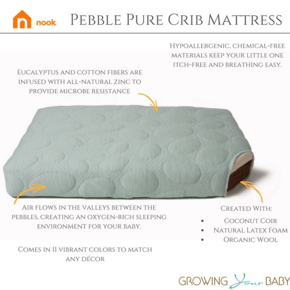 Nook S Pebble Pure Crib Mattress Sustainable And Eco