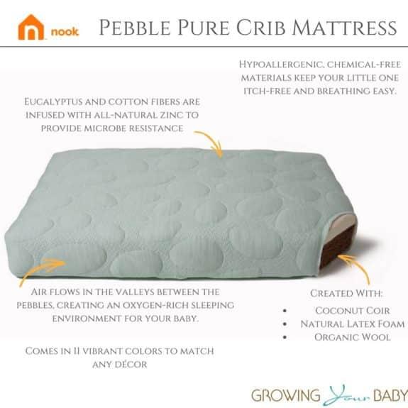 Pebble Pure Crib Mattress review