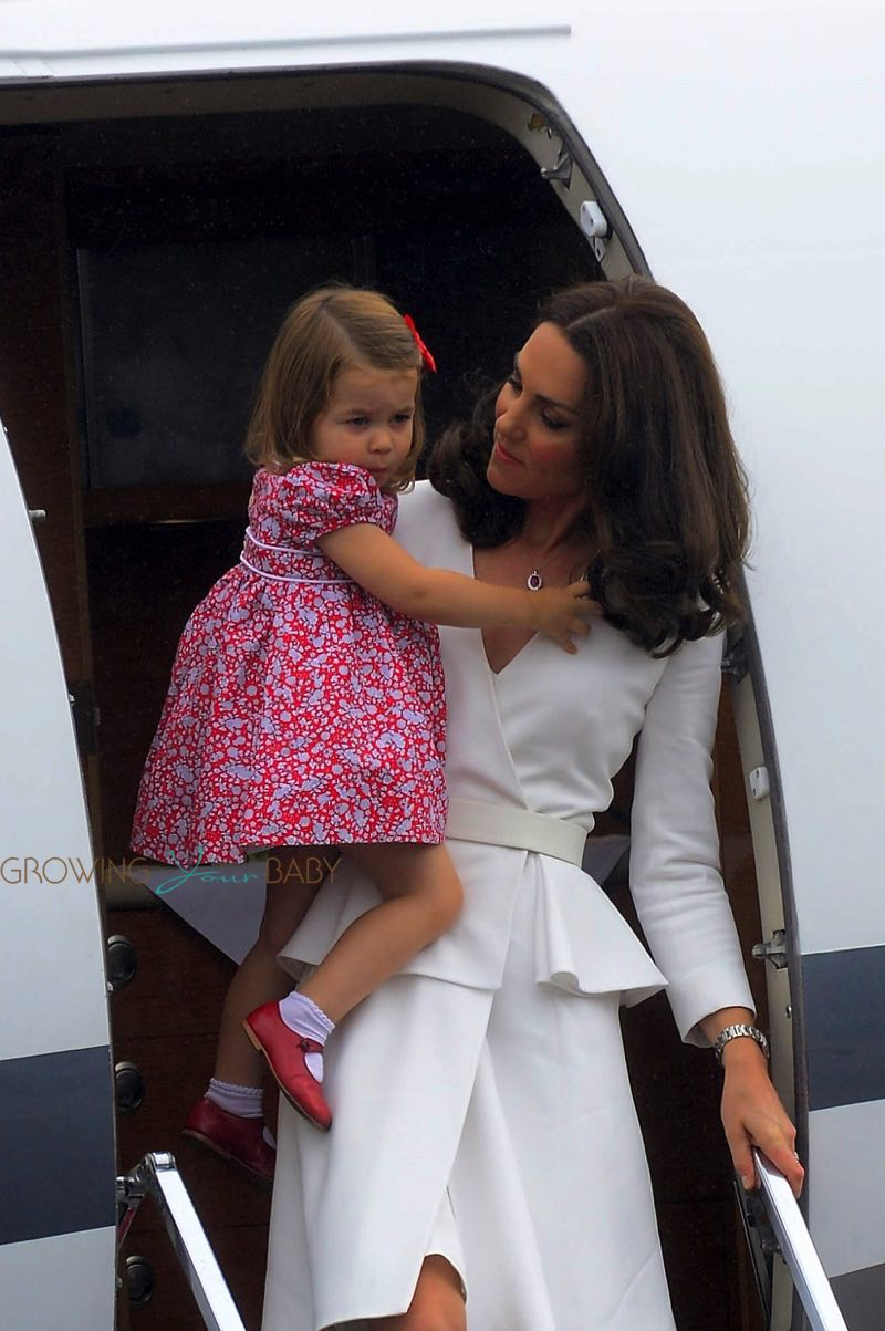 The Duchess Of Cambridge Arrives In Poland With Princess
