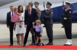 The Duke and Duchess of Cambridge arrive in Poland with kids Princess Charlotte & Prince George