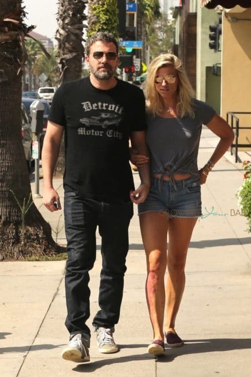 Ben Affleck and Lindsay Shookus enjoy their Saturday morning together arm in arm