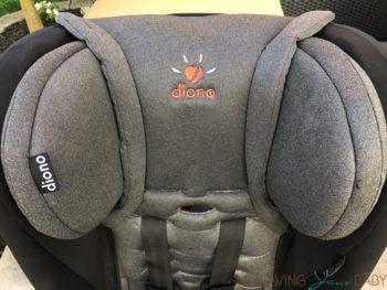 Diono Rainier Review - headrest